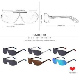 Image 5 - BARCUR אלומיניום מגנזיום גברים של משקפי שמש טייס נהיגה מקוטבות צרות עדשה איש שמש זכוכית נשים Gafas דה סול גוונים