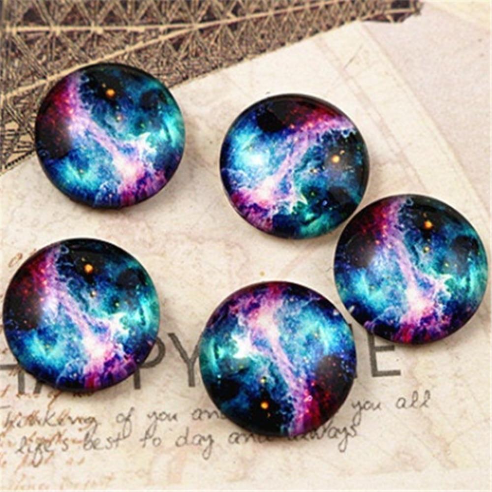 Hot Sale 20pcs 12mm Handmade Photo Glass Cabochons (Nebula)  (E2-13)