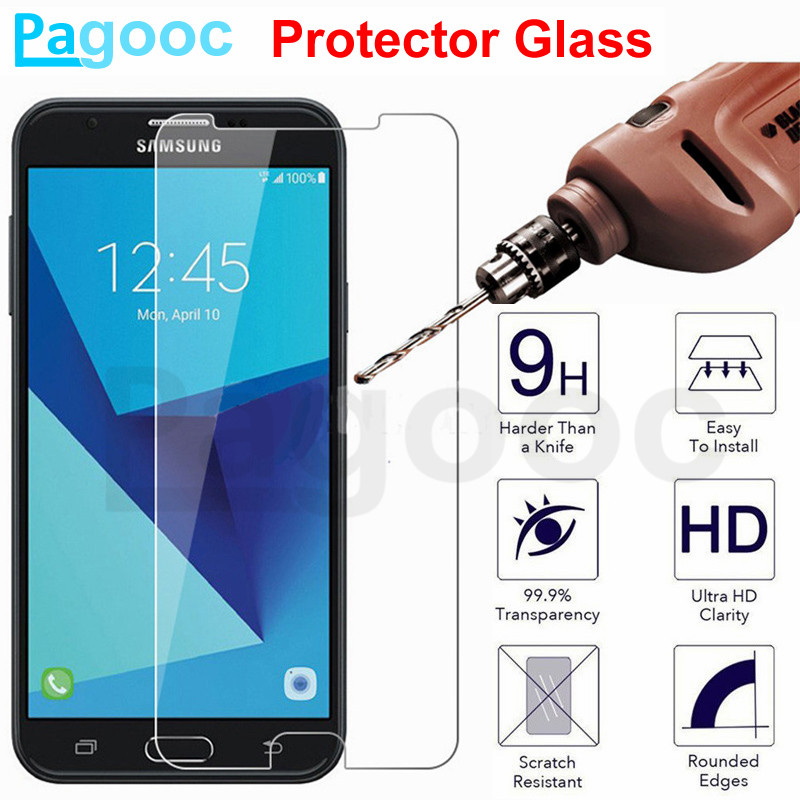 9H Tempered Glass On For Samsung Galaxy J3 J5 J7 A3 A5 A7 2015 2016 2017 2018 A6 A8 Plus 2018 Safety Protection Glass Film Case