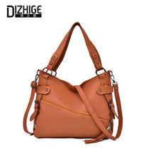 DIZHIGE Brand Luxury Solid PU Women Bags High Quality Crossbody For Large Capacity Multi-Pocket Tassel Shoulder