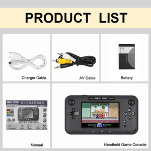 Image 5 - Retro Draagbare Mini Handheld Game Console 8 Bit 4.0 Inch Video Game Ingebouwde 208 Games Voor Video uitgang Game Console