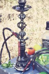 New Cool Rauchen Zubehör Reise Arabischen wasserpfeife Shisha Set Mit Doppel Schlauch rohr Schüssel Topf Set party geschenke
