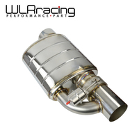 Stainless Steel 3.5 Slant Outlet Tip Inlet Weld On Single Exhaust Muffler with different sounds/Dump Valve Exhaust Cutout