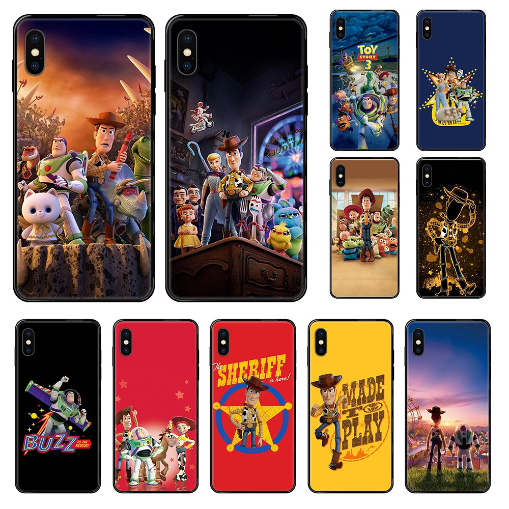 Cute Cartoon <font><b>Toy</b></font> <font><b>Story</b></font> 3D fashion <font><b>funda</b></font> prime black Phone case For <font><b>iphone</b></font> 4 4s 5 5S SE 5C <font><b>6</b></font> 6S 7 8 plus X XS XR 11 PRO MAX 2020 image
