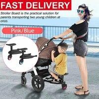 Kids Safety Wheeled Pushchair Stroller Step Standing Board Scooter Stroller