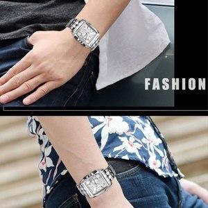 Image 5 - MEGIR Original Luxury Men Watch Stainless Steel Mens Quartz Wrist Watches Business Big Dial wristwatch mens Relogio Masculino