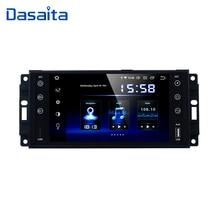 "Dasaita 7 ""アンドロイド 9.0 車の gps ステレオラジオジープラングラークライスラーかわす司令コンパスパトリオットグランドチェロキーリバティ"