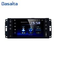Dasaita Radio estéreo para coche, Radio con Android 9,0 de 7 pulgadas, GPS para coche, para Jeep Wrangler, Chrysler, Dodge Commander, Compass, Patriot, Grand Cherokee Liberty