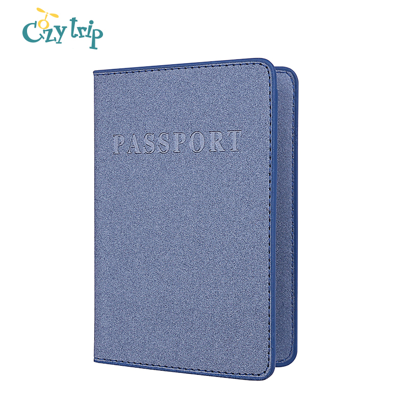 Frosted Leather Passport Holder Cover RFID Blocking Credit Card ID Case Travel Ticket Wallet Document Organizer
