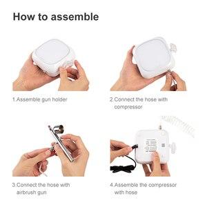 Image 5 - Hochdruck Wasser Nachschub Sauerstoff Meter Spritzpistole 0,3mm Düse Einzigen Aktion Airbrush Kit