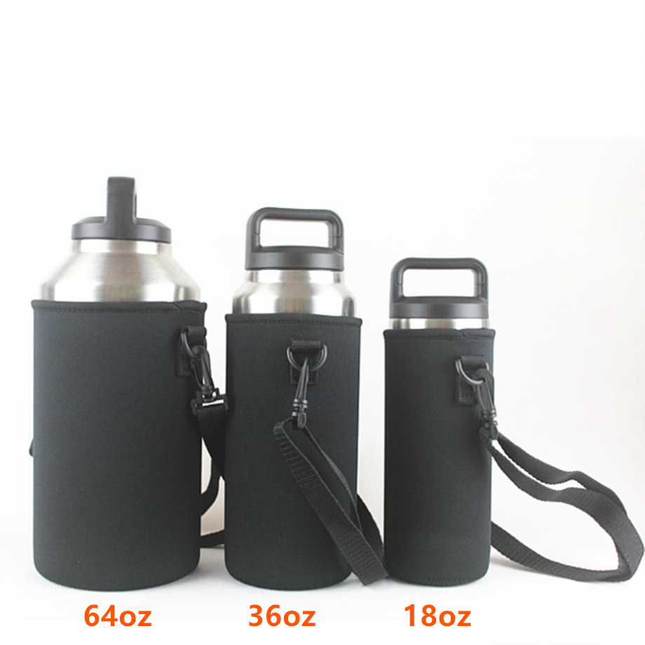 New Portable Outdoor Sport Insulated Water Bottle Cup Set Holder Shoulder Bag A4