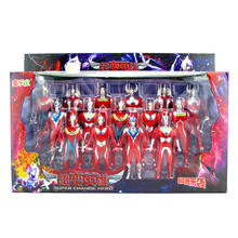 Galaxy Cosmos Superman Toy Suite Victory Ultra Seven Ultraman Taro conversion Caller Combination Six Gifts for Children