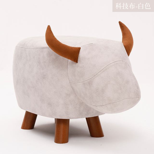 Fashion Creative Calf Animal Shoe Stand, Solid Wood Sofa Stand, Household Foot Stand, Low stool, Small Wood Stand 3
