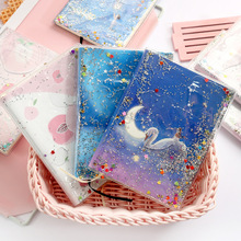 The quicksand hand book girl heart cute into the plastic set of this net red portable A6 notebook stationery цена