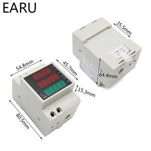 Din-рейка Многофункциональный светодиодный цифровой измеритель переменного тока 80-300 В 200-450 в 0-100А активный коэффициент мощности Амперметр электрической энергии вольтметр DIY