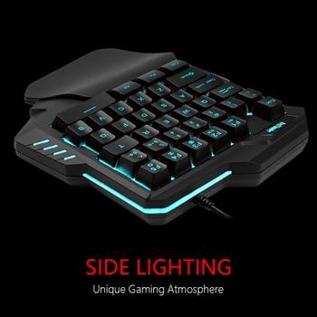 RedThunder One-Handed Gaming Keyboard RGB Backlit 6400dpi Macro Programming Mouse Combos,Portable Mini Keypad for Laptop PC 3