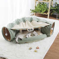 Collapsible Removeable Cat Tunnel Tube Pet Interactive Play Toys Sound Paper Ring Bell For Cat Ferrets Puppy