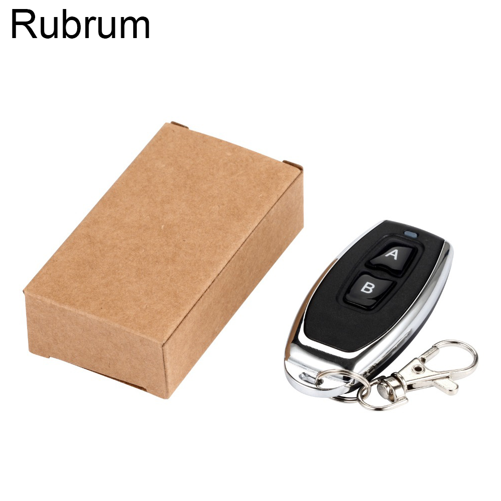 Rubrum 433 MHz RF <font><b>Remote</b></font> Control Learning Code 1527 EV1527 <font><b>For</b></font> <font><b>Gate</b></font> Garage Door Controller Alarm Key 433mhz Included Battery DIY image