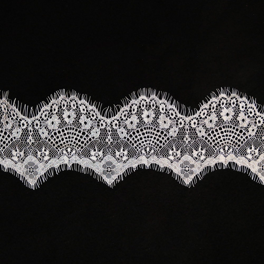 Embroidered Lace Ribbon Small Flower Motif DIY Embellishment Craft Clothes Decor