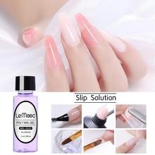 Polish Gel Builder-Gel Liquid-Slip-Solution Nails Acrylic Poly Extension-Gel-Nail-Tool