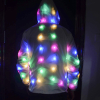 2019 LED Luminous Faux Fur Coat Lady Bar Dance Show Nightclub Clothes LED DJ Costumes Christmas Halloween Party Cospaly Suit