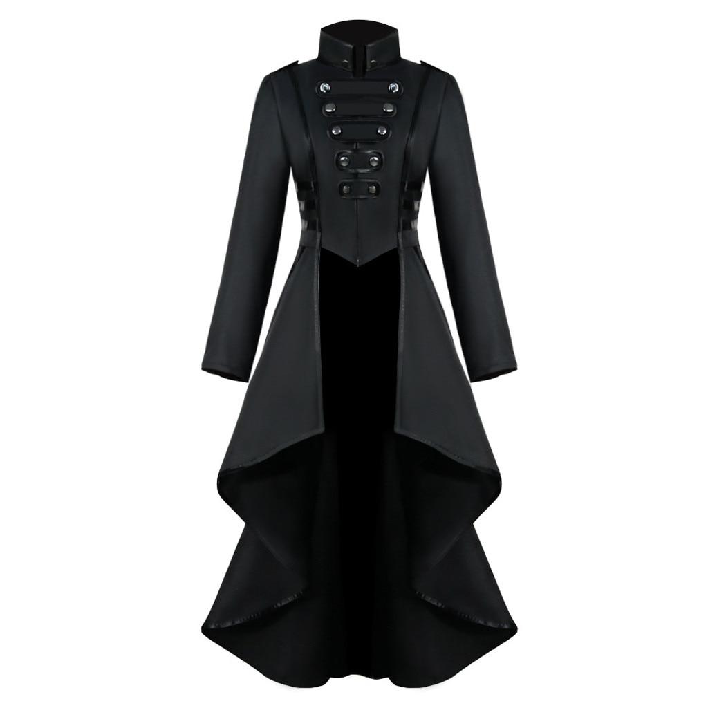 Women Halloween Jackets Gothic Steampunk Button Lace Corset Casual Halloween Costume Coat Tailcoat Jacket dropshipping Innrech Market.com