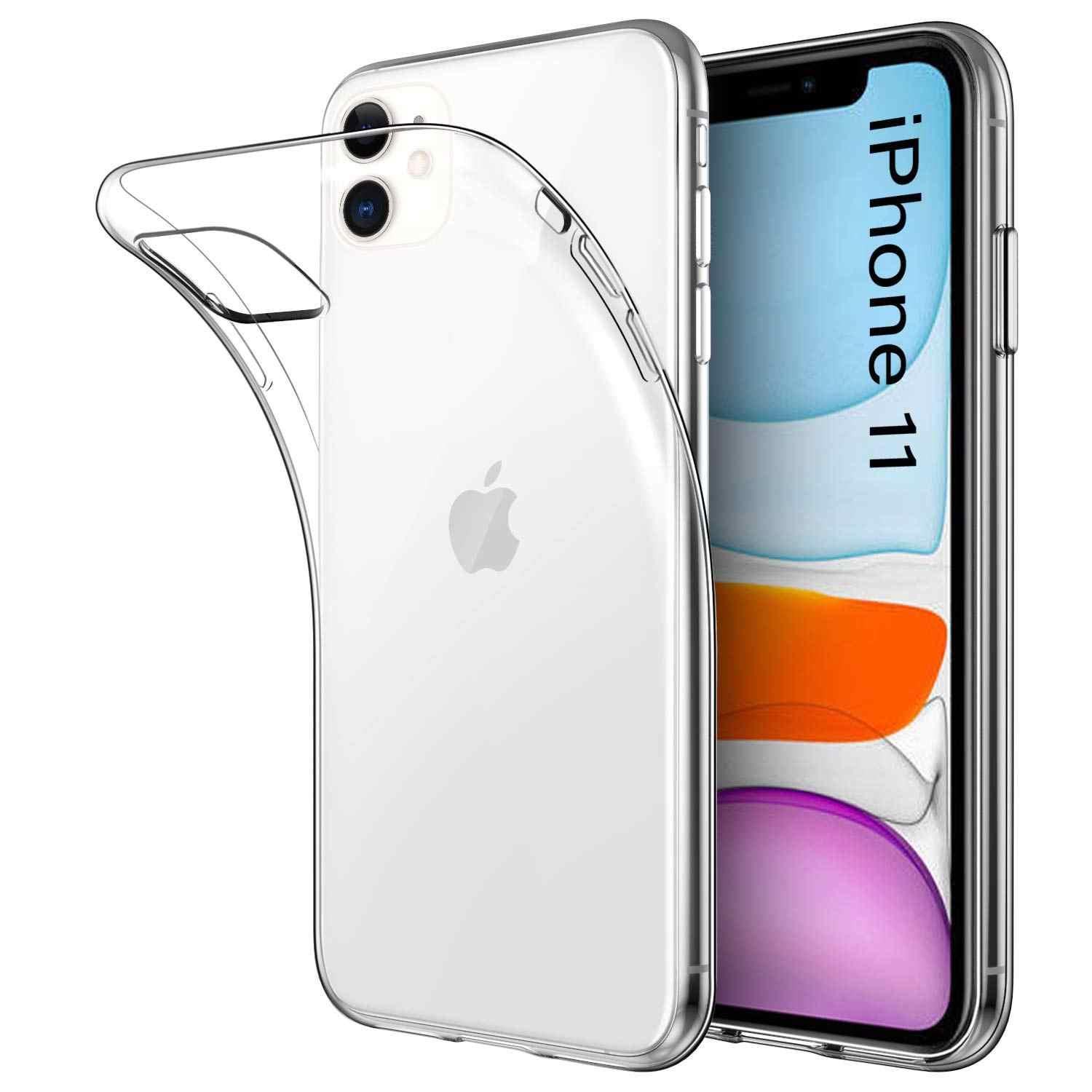 Funda De Gel TPU Carcasa Silicona Para Movil Apple Iphone 11 Transparente