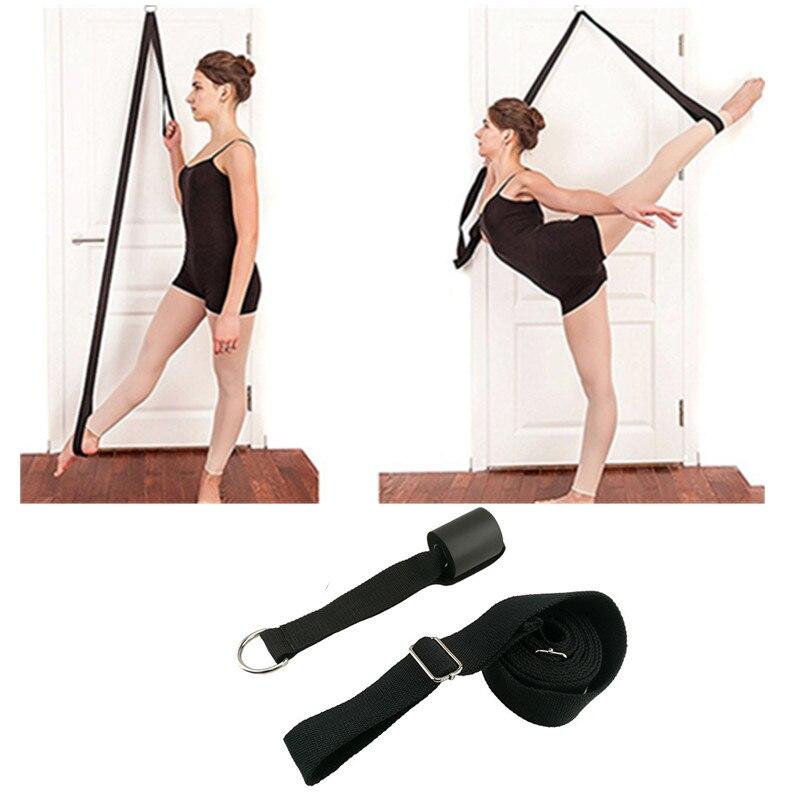 Door Flexibility Stretching Leg Stretcher Strap For Ballet Cheer Dance Gymnastics Trainer Yoga Flexibility Leg Stretch Belt