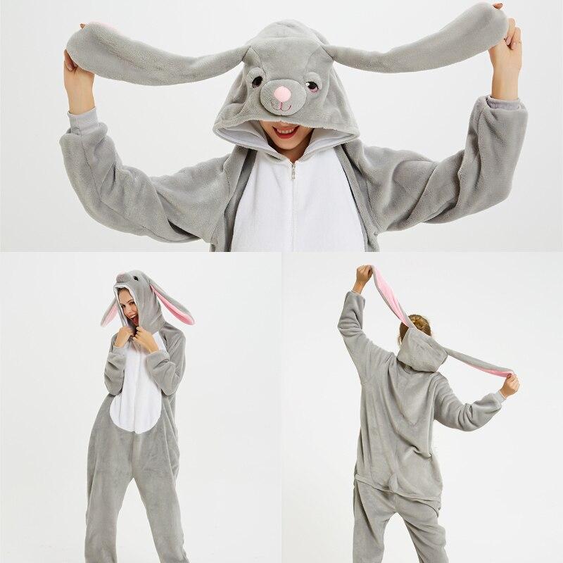 New Winter Christmas Kigurumi Animal Pajamas Unicorn Onesie Unisex Adult Women Pajamas Set Sleepwear Flannel Hooded Homewear