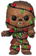 Original estrela guerra chewbacca natal ver. com bobble cabeça 10cm viny modelo figura brinquedos