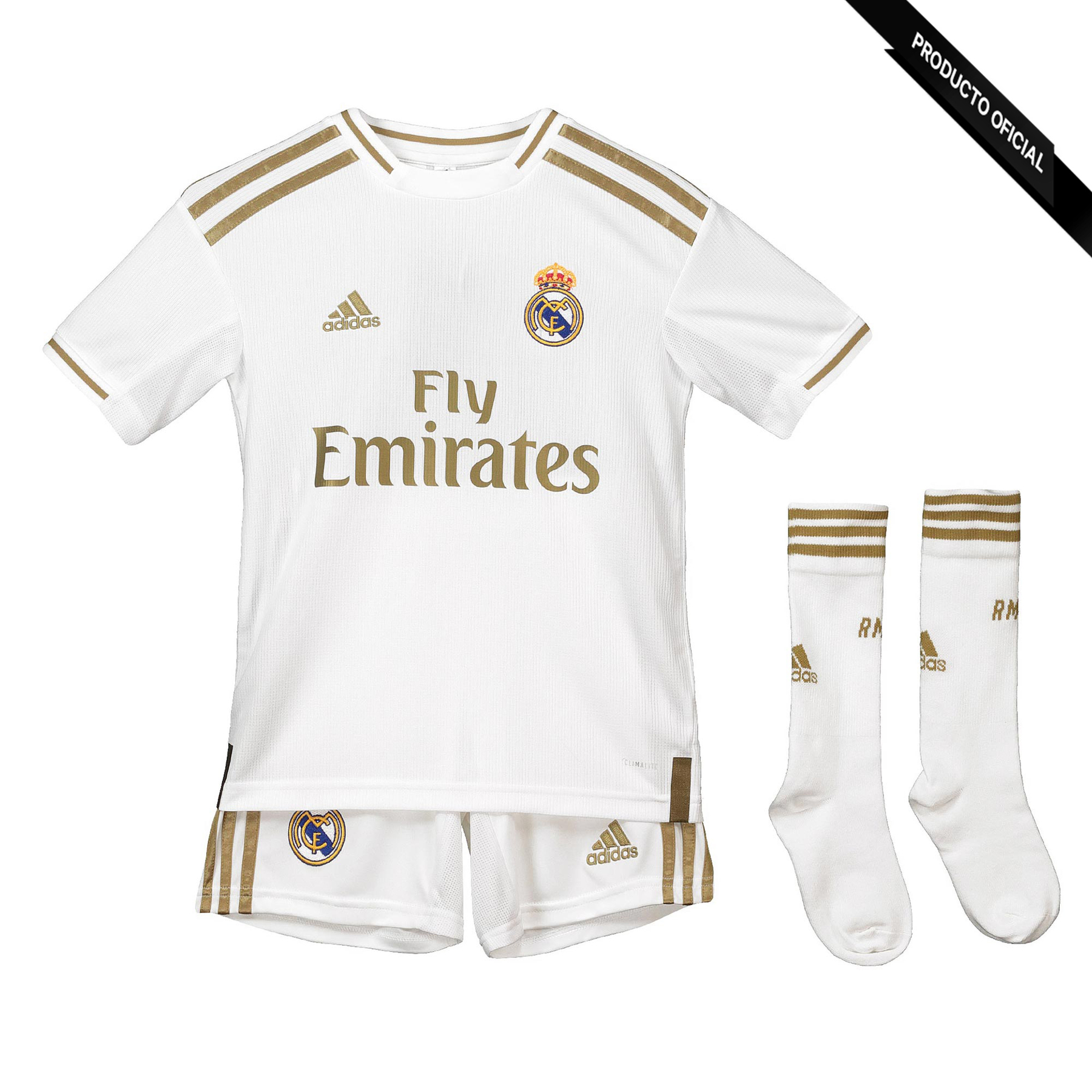 ADIDAS Real Madrid 2019-2020 Conjunto Infantil-Dorsal Hazard-7-year 14 First Away Kit Soccer