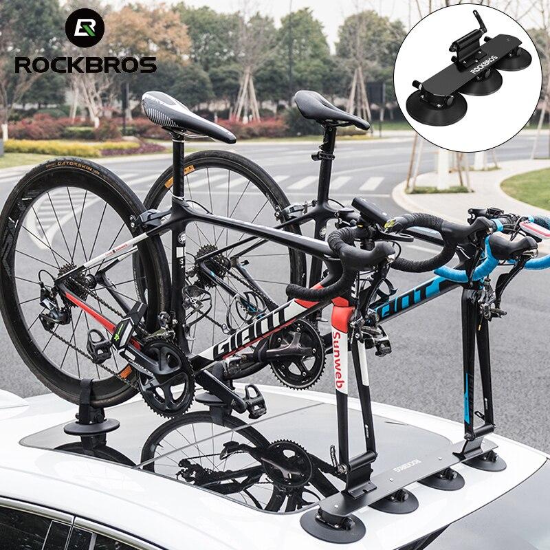ROCKBROS Автомобильный багажник на крышу с присоской, велосипедная стойка для горного велосипеда, велосипедная ступица, быстрая установка, Вак...