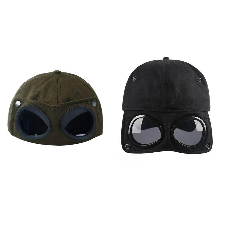 Men Women Pilot Glasses Duck Hat Fashion Wild Students Street Trend Baseball Cap High Quality And Brand New