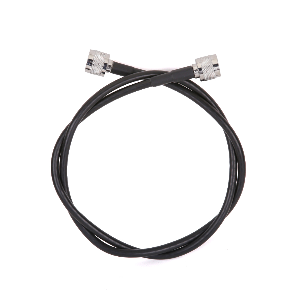 1 Meters RG6 Low Loss Coaxial Cable 50ohm N Male To N Male Connector Communication Coax Cable For Mobile Phone Signal Booster