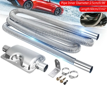 60cm Stainless Steel Exhaust Pipe&Gas Exhaust Pipe Silencer for Cars Air Heater N84F