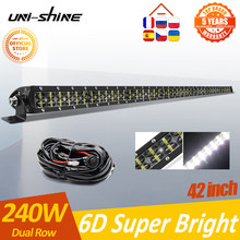 UNI-SHINE Dual Row Led Light Bar Offroad 36W 72W 120W 180W 240W 300W For UAZ Trucks 4x4 Spot Flood 12V 24V Led Work Barra Lights