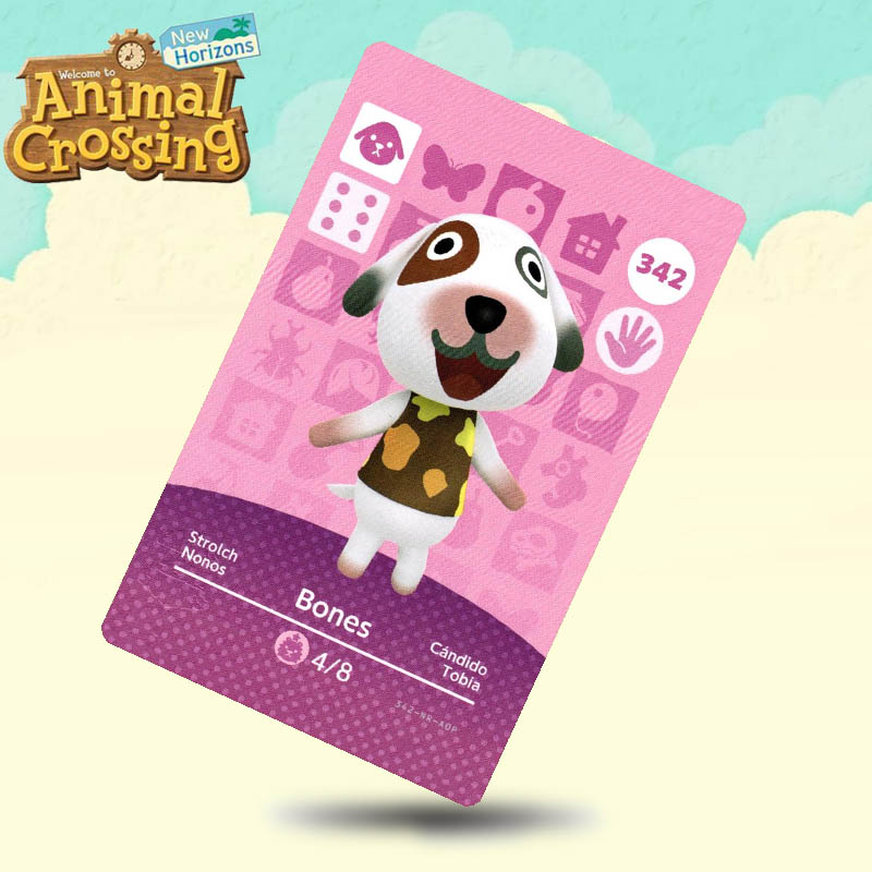 342 Bones Animal Crossing Card Amiibo Cards Work For Switch NS 3DS Games