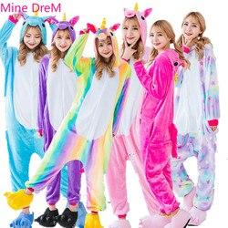 Kigurumi Adults Pajamas for Women Tenma Unicorn Flannel Pijamas Suit Animal Sleepwear Onesies Woman Pijama Set Cosplay Pajama