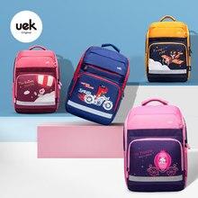 Backpack Uek Bookbag Lightweight Orthopedic Animal-Pattern Waterproof School-Noble Princess