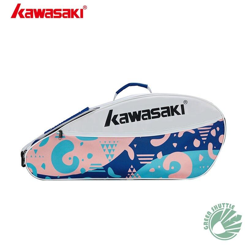 2020 New Badminton Bag Kawasaki KBB-8336 KBB-8335 Single Shoulder 3 Racket Tennis  Racquet Gym Backpack Sport Bags