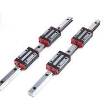 CNC parts HG20 L300/400mm  linear rail slide  linear guide+HGH20CA/HGW20CC tbr16 linear guide rail 1pc tbr16 400mm linear rail 2pcs tbr16uu flange linear slide block