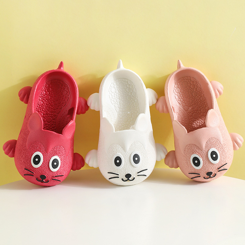 Kids Cartoon Slippers Boys Girls Cute Mouse House Shoes Toddler Swimming Flip Flops Kids Casual Beach Slippers Pantuflas