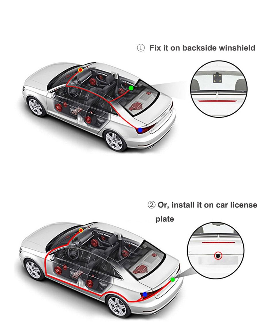 WHEXUNE 8 inch car dvr 4G Android Full HD 1080P Car Camera GPS Navigator ADAS Dual Lens Night vision auto Video Recorder DashCam