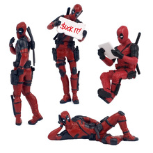 Marvel Avengers Super Heroes Toys Deadpool Funny Creativity Model Car Decoration Anime Peripheral Toys Children Birthday Gifts