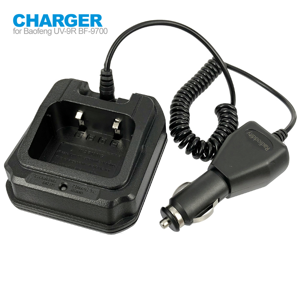 CHR-9700 Battery Car Charger For BaoFeng BF-9700 UV-9R Plus BF-A58 UV-XR A-58 GT-3WP UV-5S UV-82WP Two Way Radio Walkie Talkie