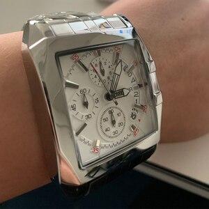 Image 4 - MEGIR erkekler büyük arama moda iş Analog kuvars kol saati paslanmaz çelik kayış spor saatler saat erkek Relogio Masculino