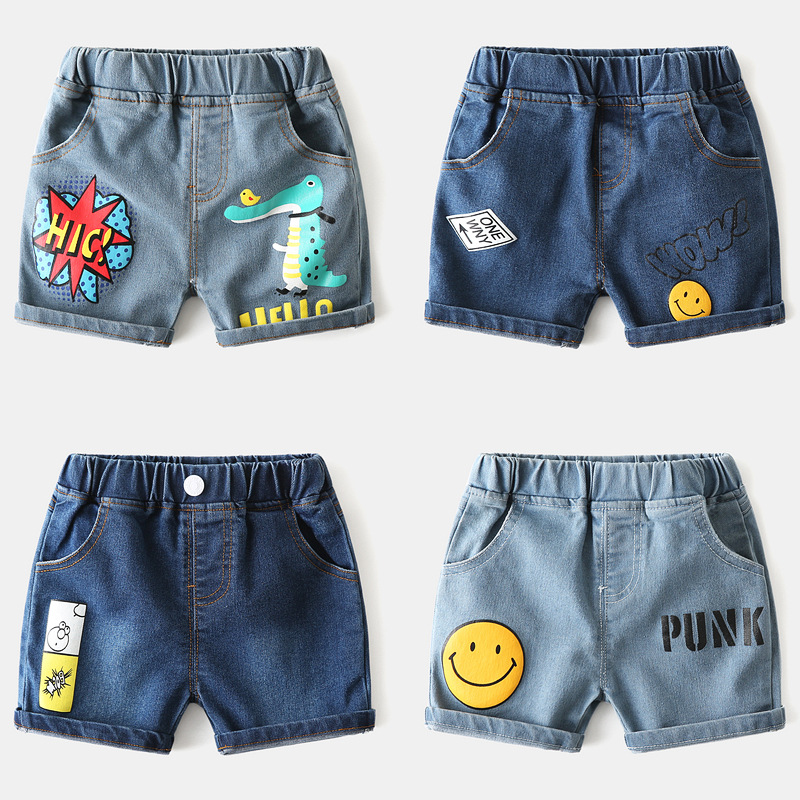 Boys Jeans Shorts Comfortable Fabrics Cortoon Casual Pattren 2020 Summer Beach Shorts Clothing Clothes Jeans Shorts For Kid Boys 1