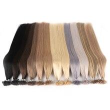 Hair-Capsules Human-Hair-Extensions U-Nail-Tip Fusion Remy-Keratin Pre-Bonded Natural