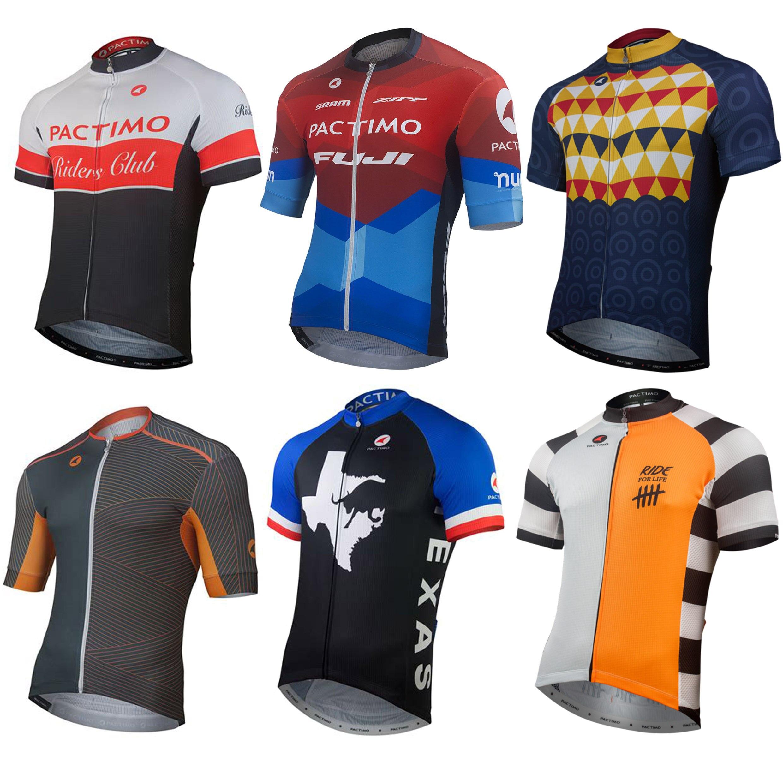 Cycle Jersey for Men Short Sleeve Biking Shirt Pro Team Cycling Wear Spin Tops