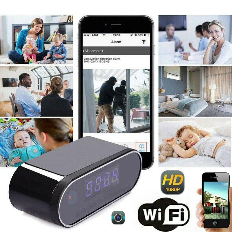 HD 1080P Wireless Wifi Alarm Clock Camera Motion Home Security Protection IR Cam Nanny Night Vision IP Camera Pakistan